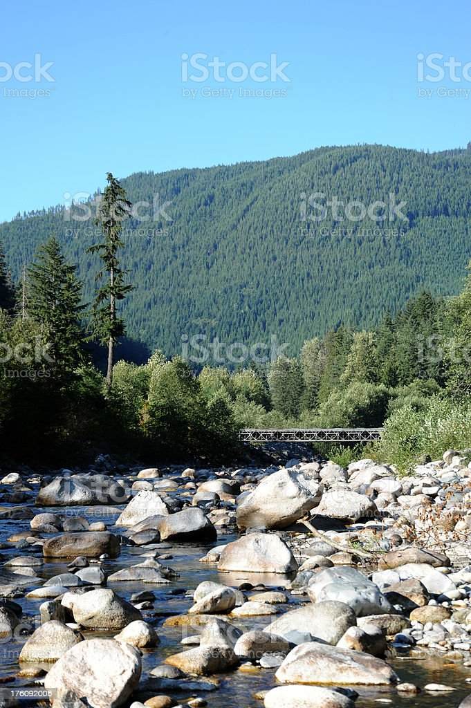 Canadian River Hope British Columbia Vertical royalty-free stock photo