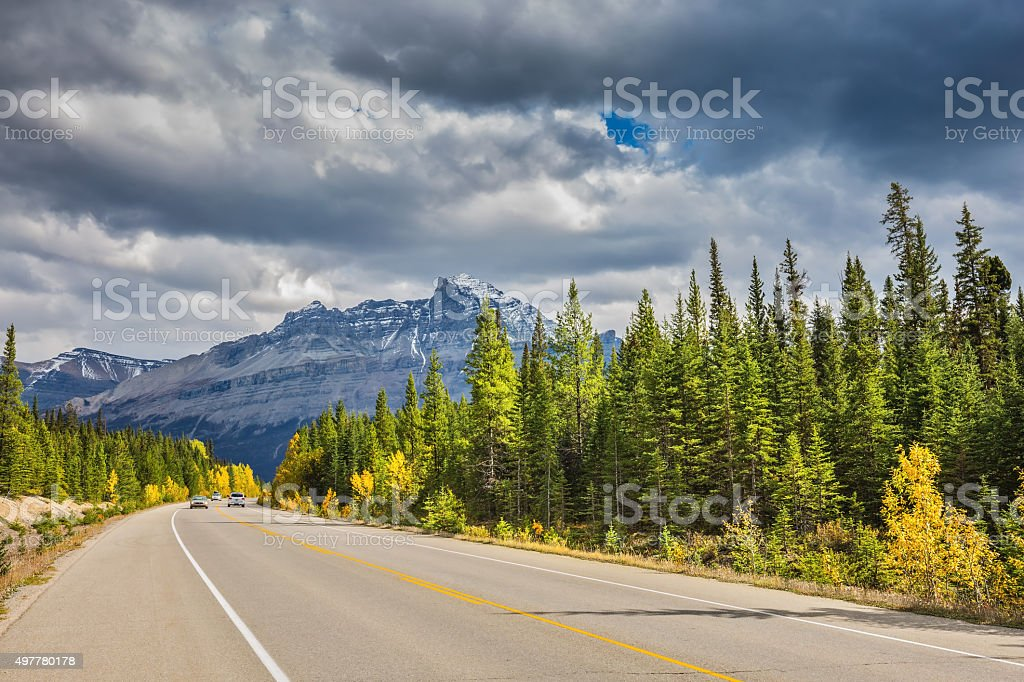 Canadian Rockies, Banff National Park in September stock photo