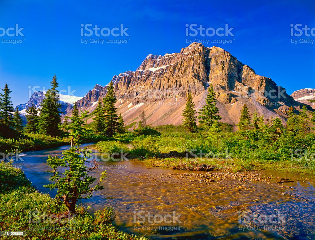 Canadian Rockies In Banff NP royalty-free stock photo