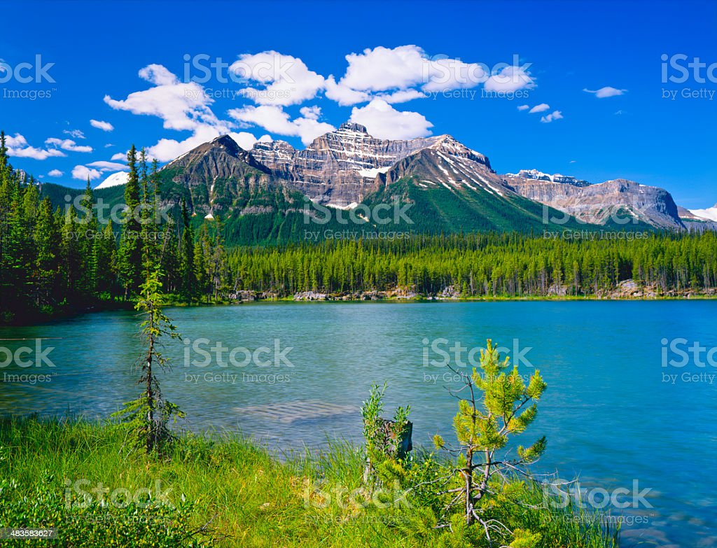 Canadian Rockies In Banff NP stock photo
