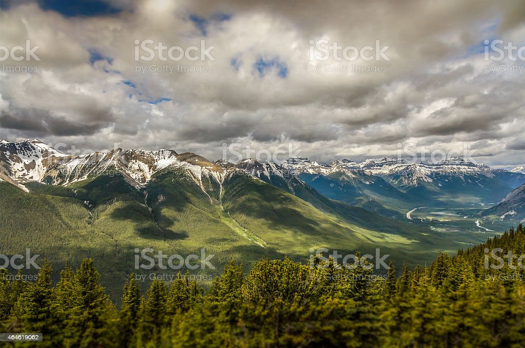 Canadian Rockies in Banff stock photo