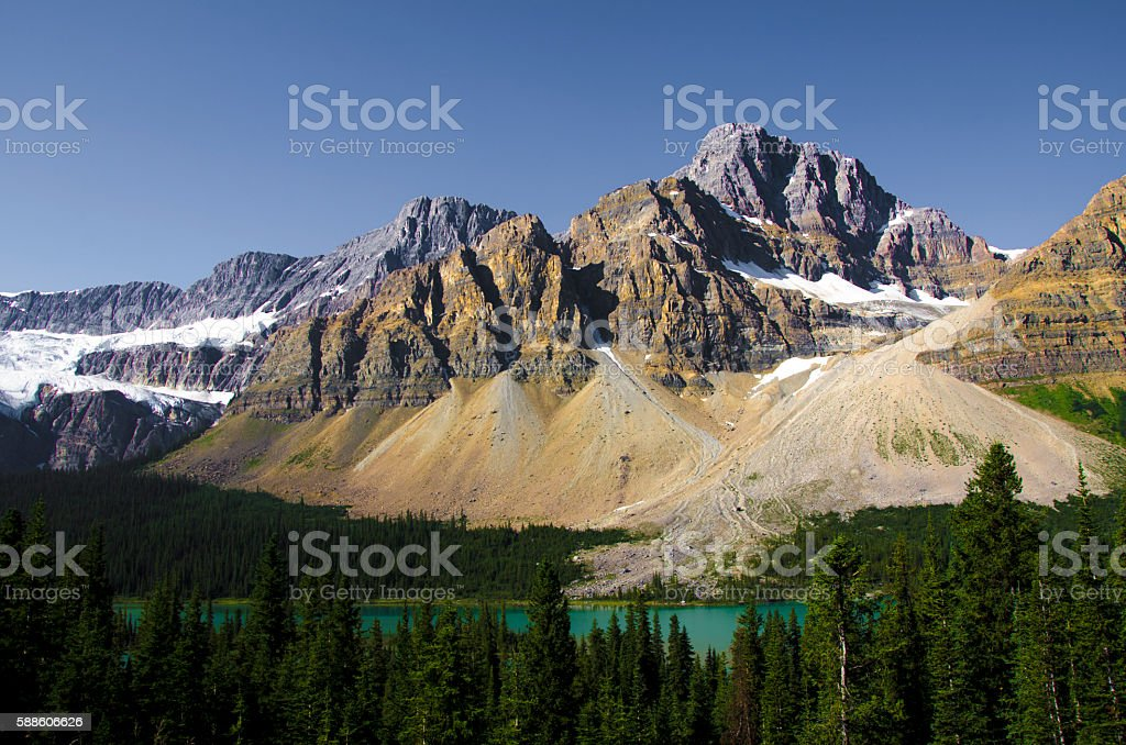 Canadian Rockies in the Summer stock photo