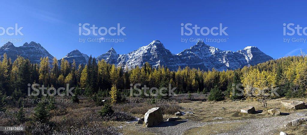 Canadian Rockies Panorama stock photo