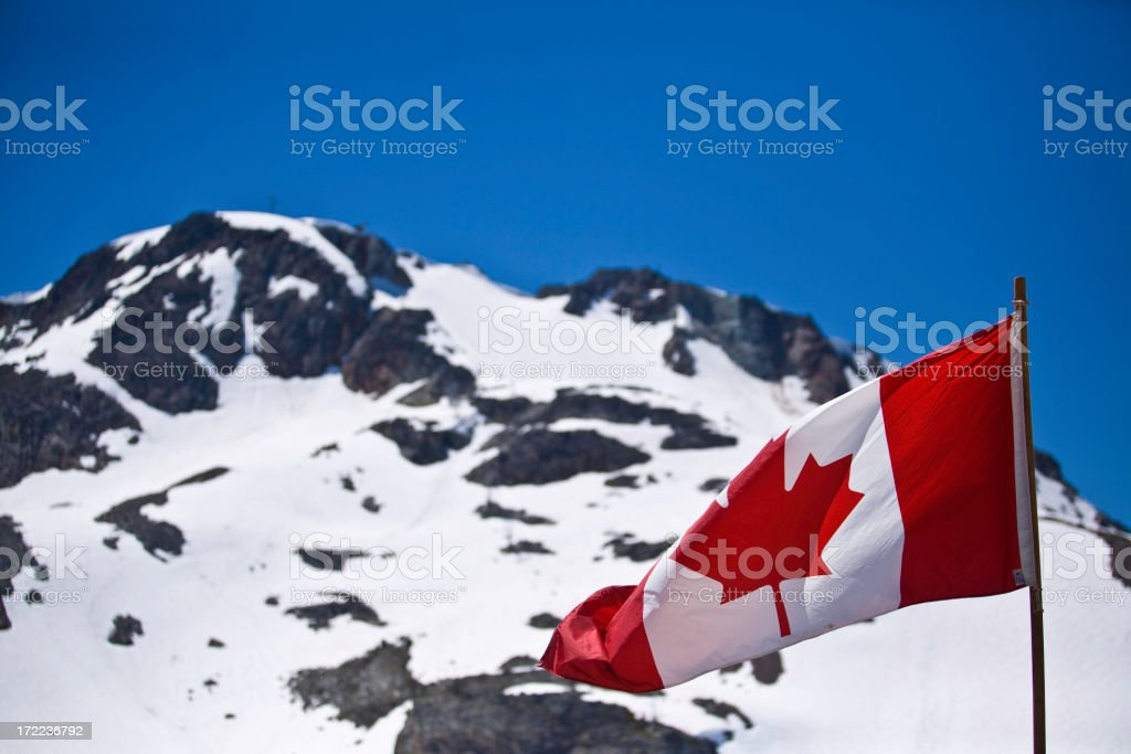Canadian Rockies (flag, patriotism, canada) royalty-free stock photo