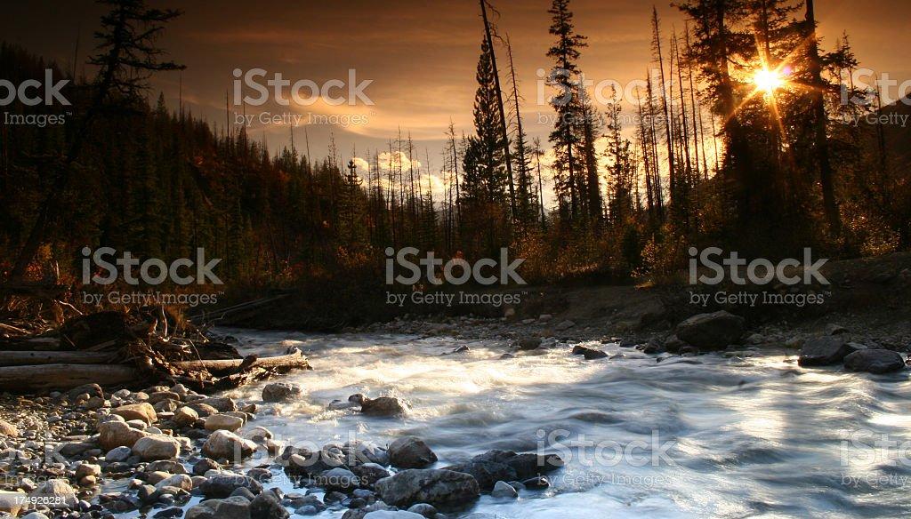 Canadian Rockies Wilderness Scene stock photo