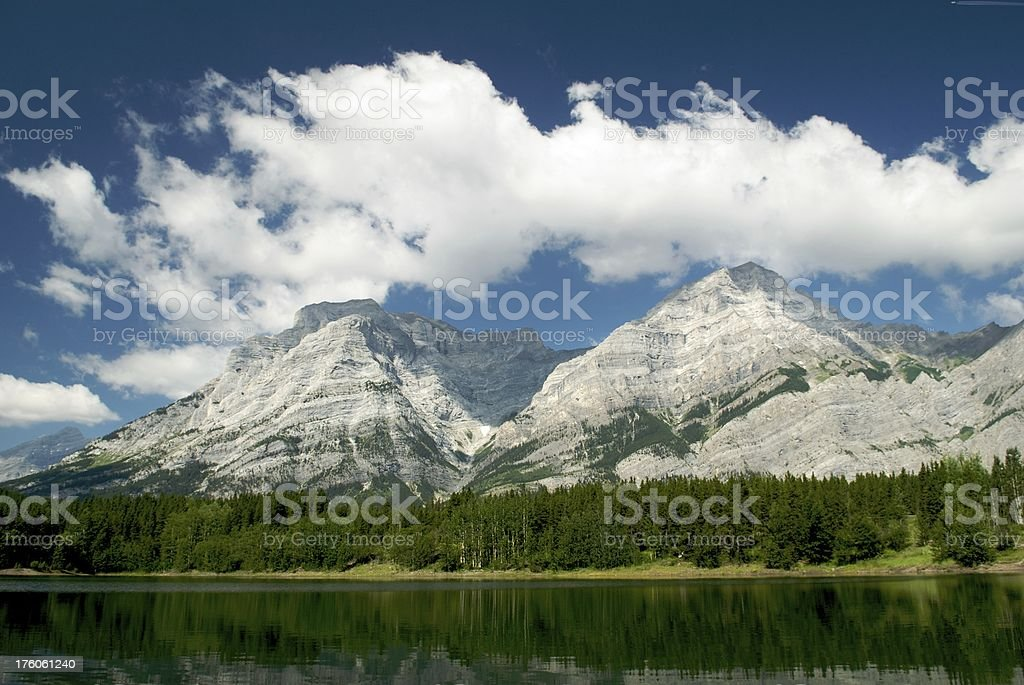 Canadian Rocky Mountains & Clouds stock photo