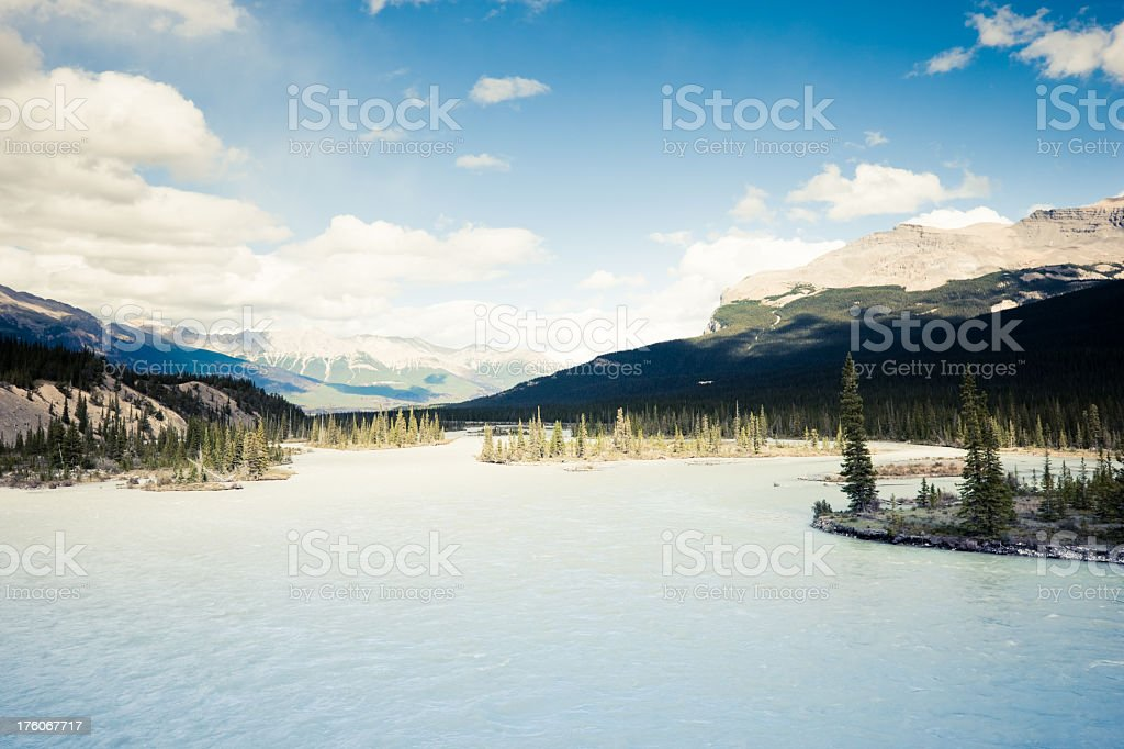 Canadian Rocky Mountains River View royalty-free stock photo