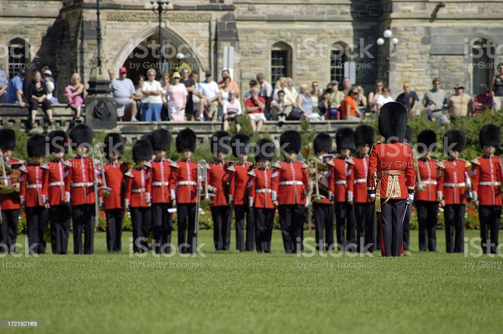Canadian Royal Military Band royalty-free stock photo