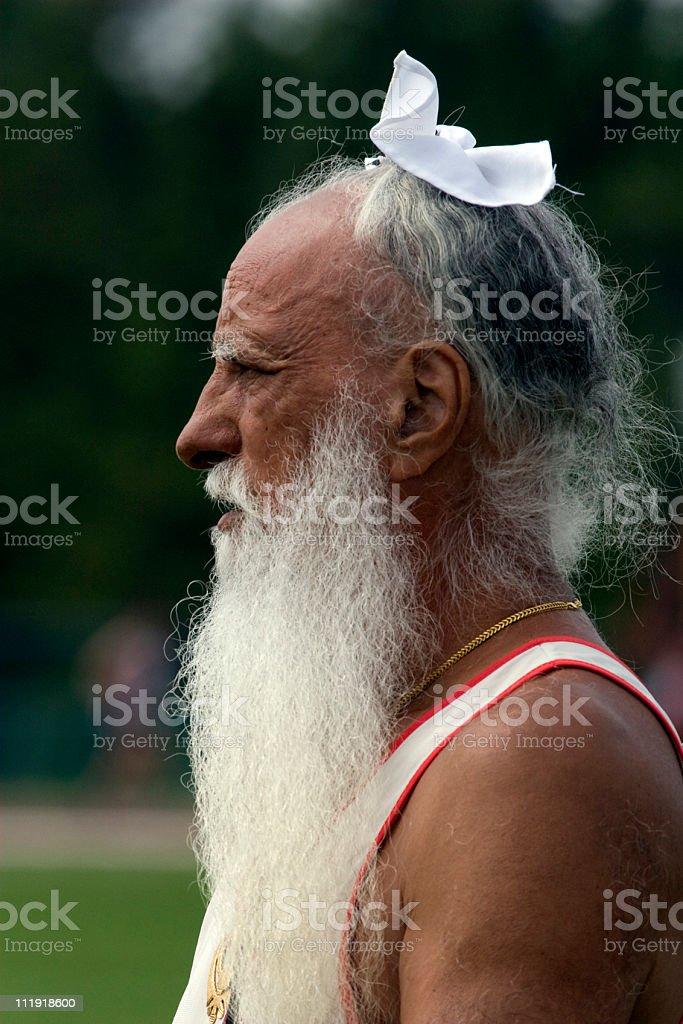Canadian Sikh Masters Athlete royalty-free stock photo