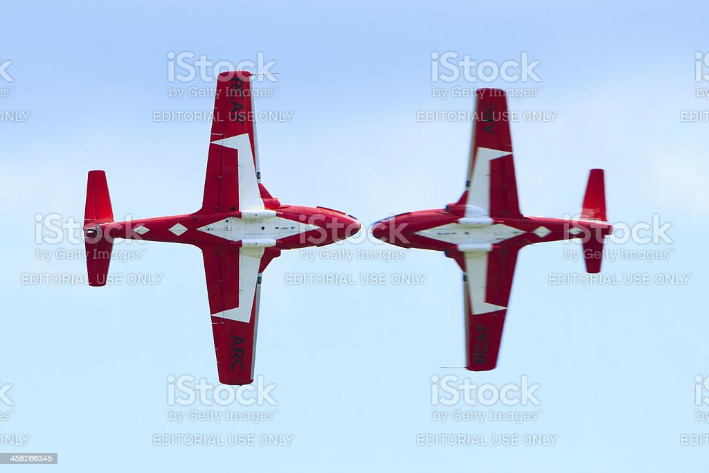 Canadian Snowbirds Show royalty-free stock photo