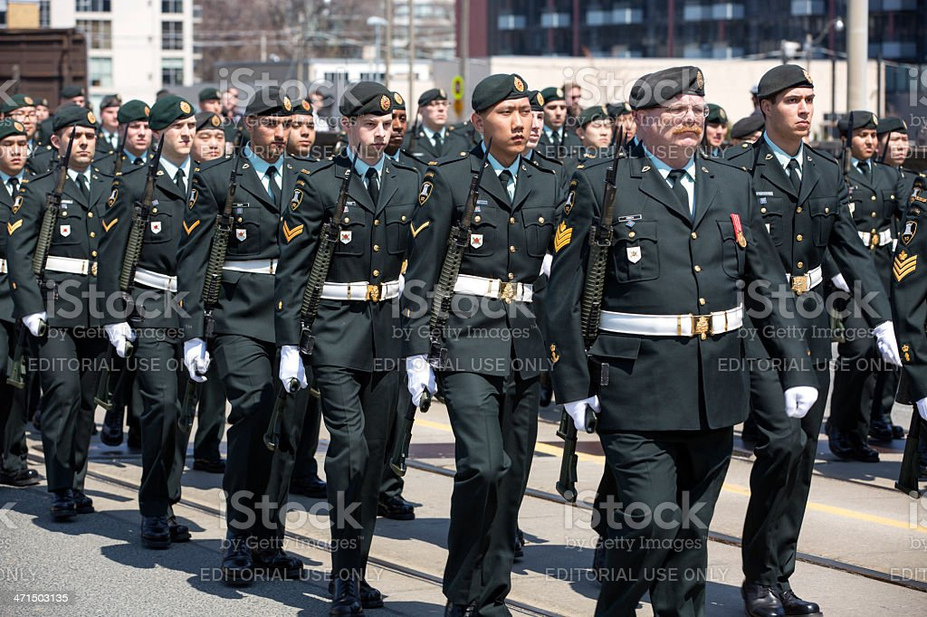 Canadian Soldiers stock photo