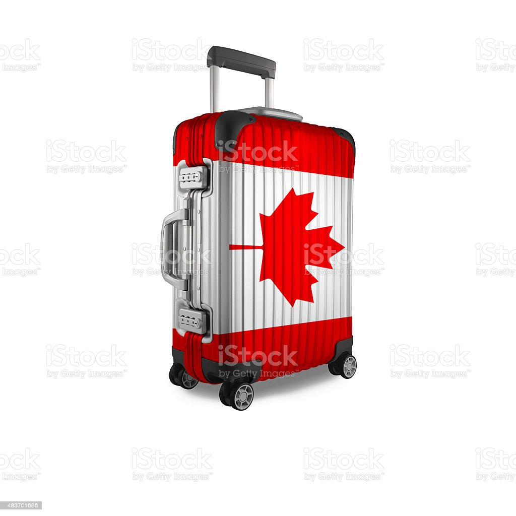 Canadian Suitcase. stock photo