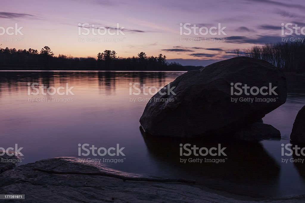 Canadian Sunset stock photo