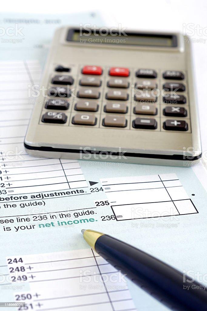 Canadian taxes royalty-free stock photo