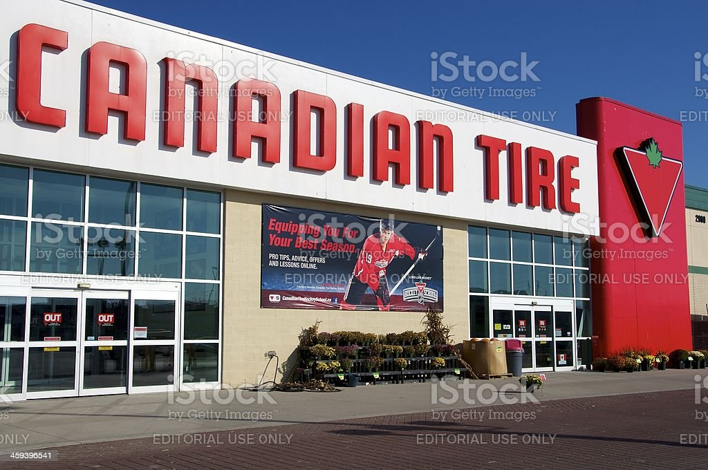 Canadian Tire Store royalty-free stock photo