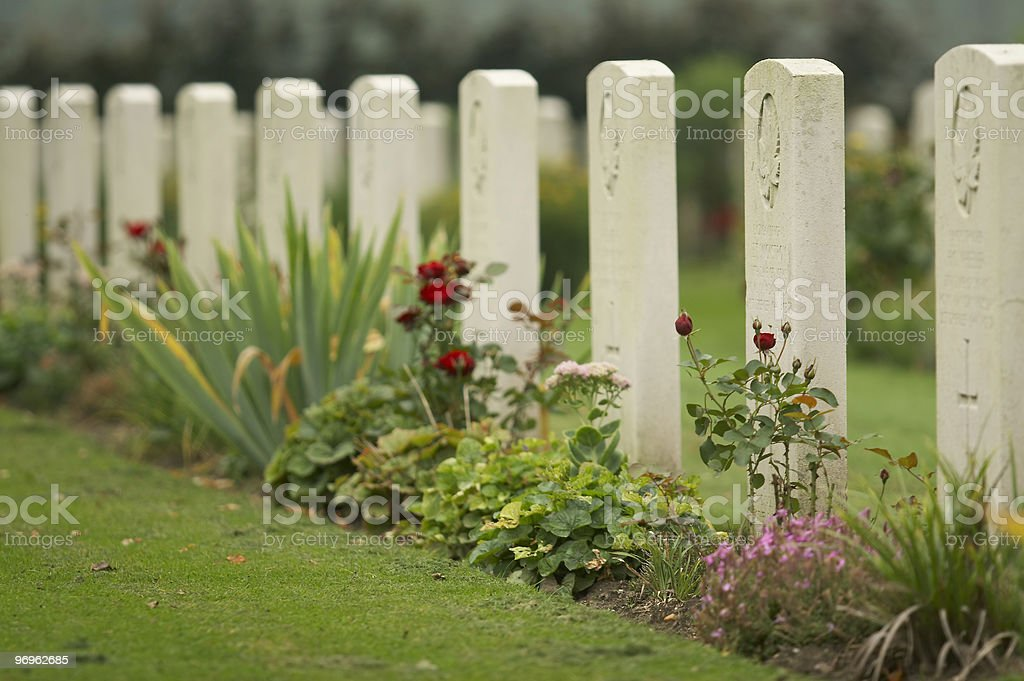 Canadian War Cemetery stock photo