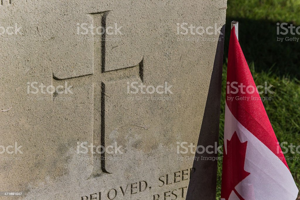 Canadian war grave royalty-free stock photo