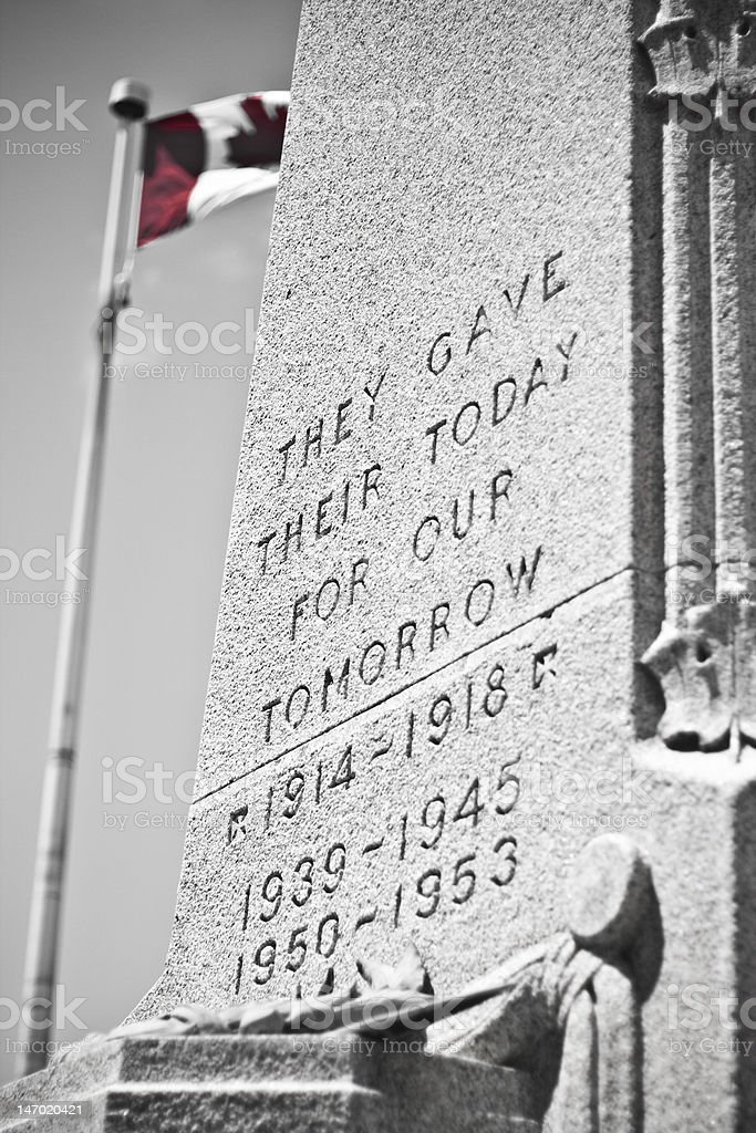Canadian War Monument stock photo