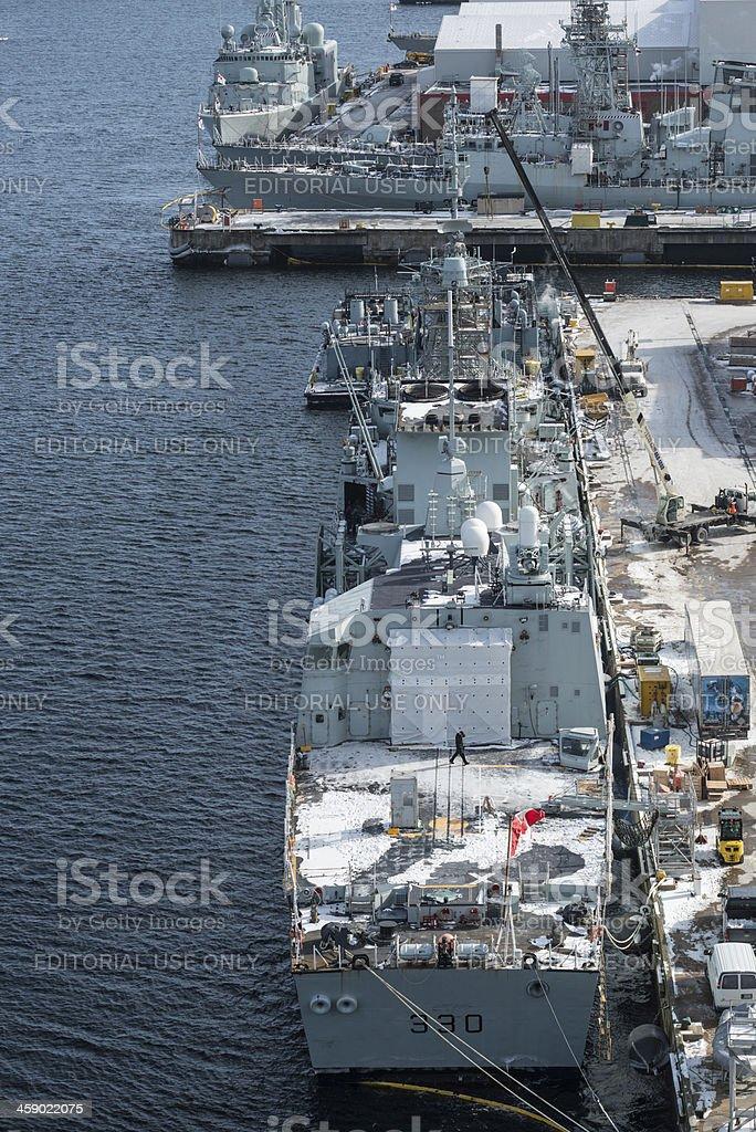 Canadian Warships stock photo