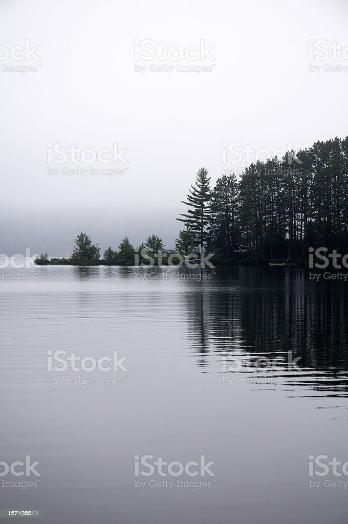 Canadian Wilderness, Misty Morning Lake royalty-free stock photo