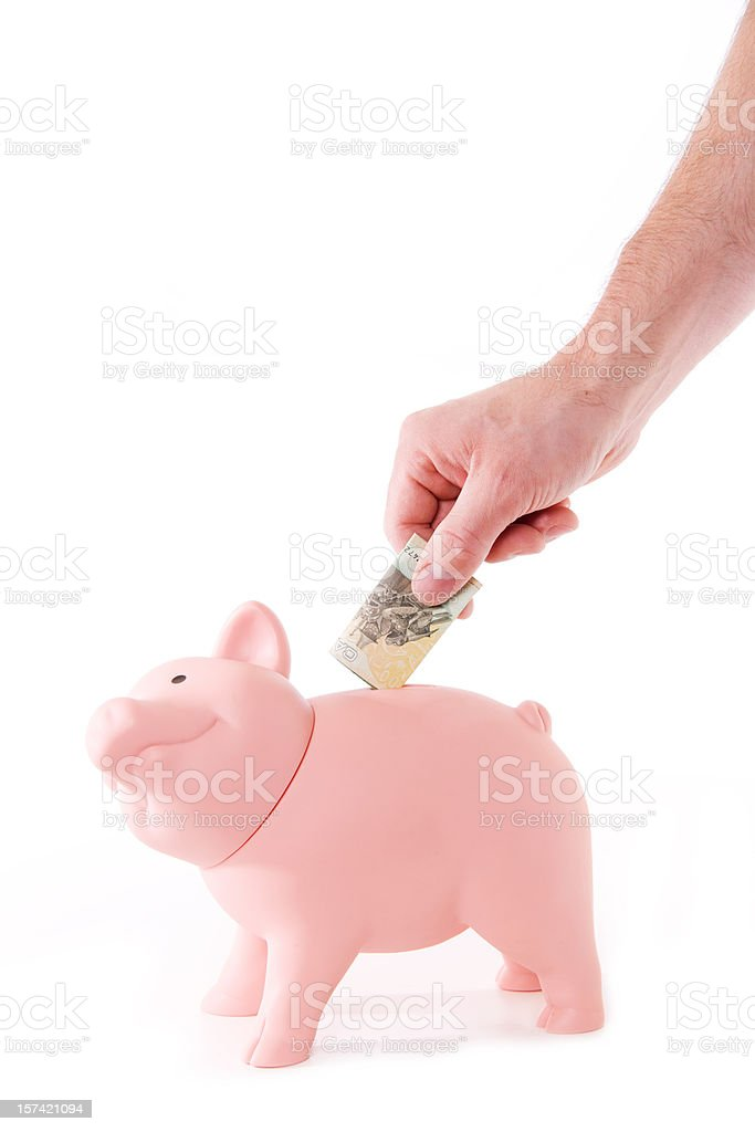 CanadianMoney in Bank royalty-free stock photo