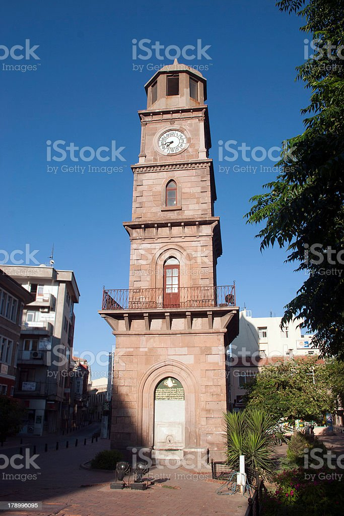 Canakkale clock tower royalty-free stock photo