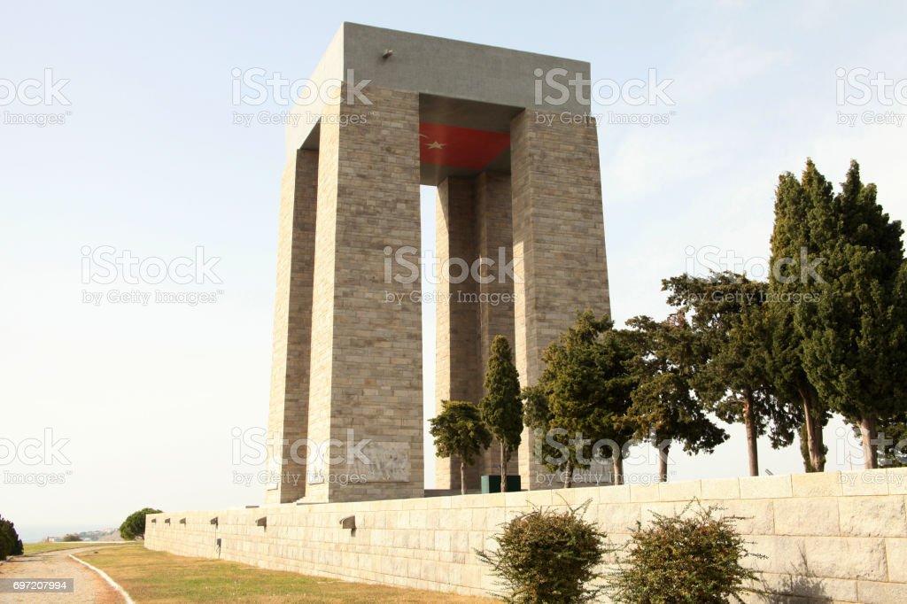 Canakkale Martyrs' Memorial, Turkey stock photo