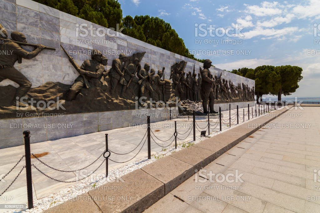 Canakkale Martyrs' Memorial Wall stock photo