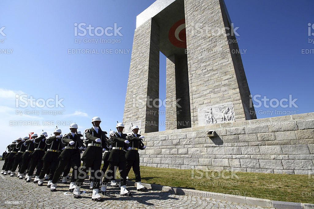Canakkale Monument in Gallipoli,Turkey. royalty-free stock photo