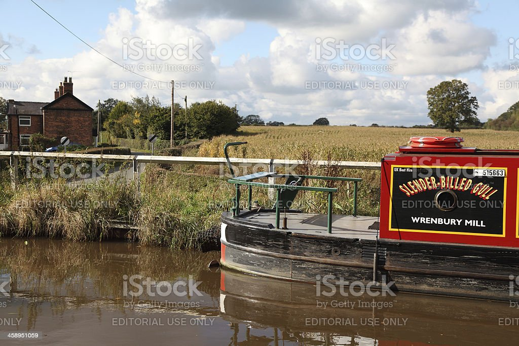 Canal and country lane royalty-free stock photo