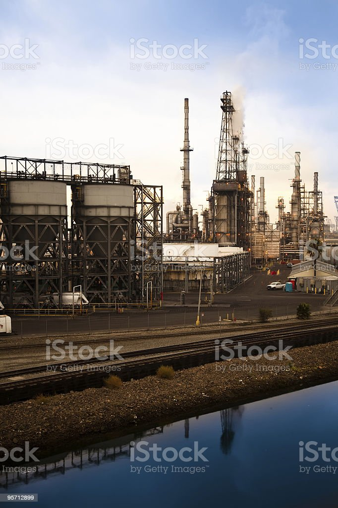 Canal and Refineries royalty-free stock photo