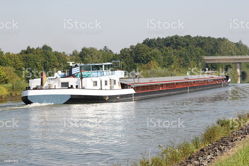 Canal Barge stock photo