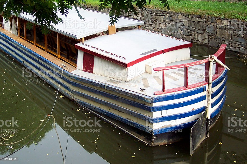 C&O Canal Barge stock photo
