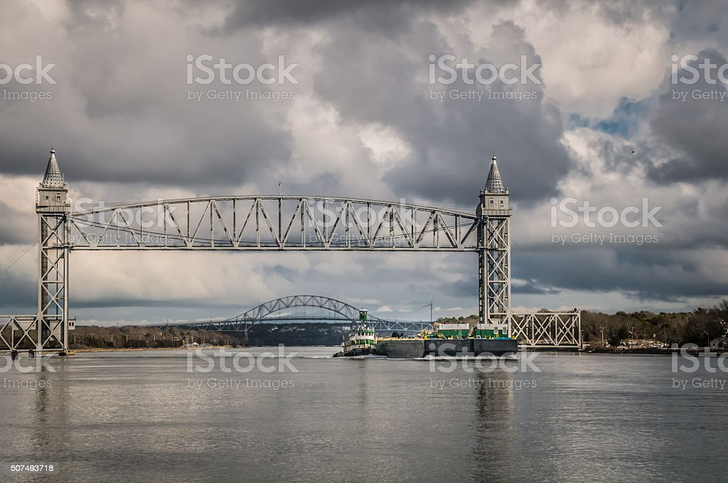 Canal Barge Traffic stock photo