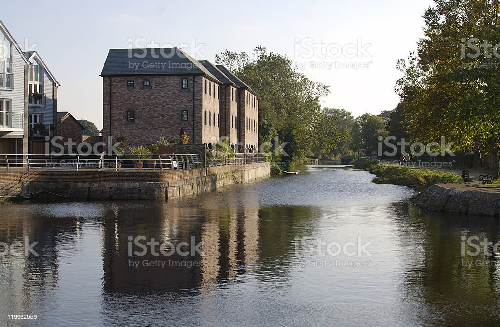Canal basin at Chichester. West Sussex. England royalty-free stock photo