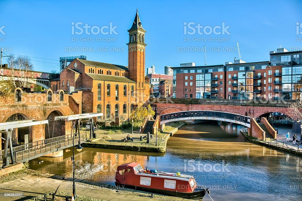 Canal Basin Castlefield Manchester stock photo