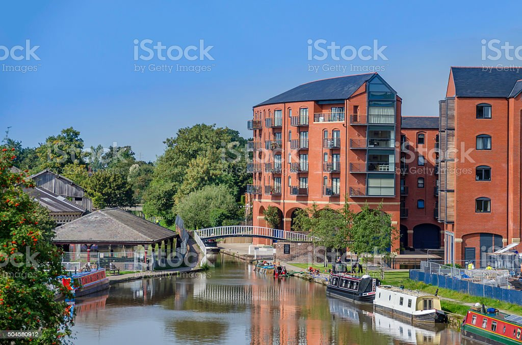 Canal Basin Development stock photo