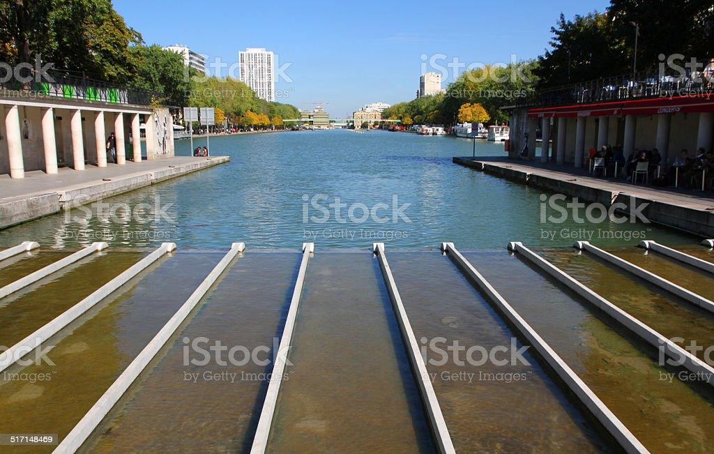 Canal Beginnings stock photo