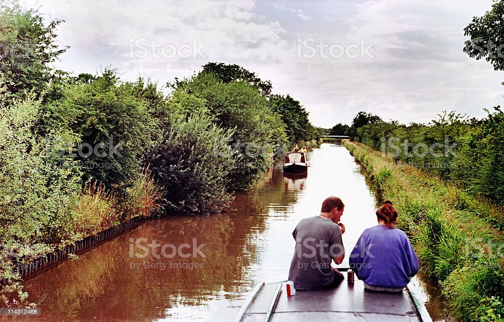 Canal boating royalty-free stock photo