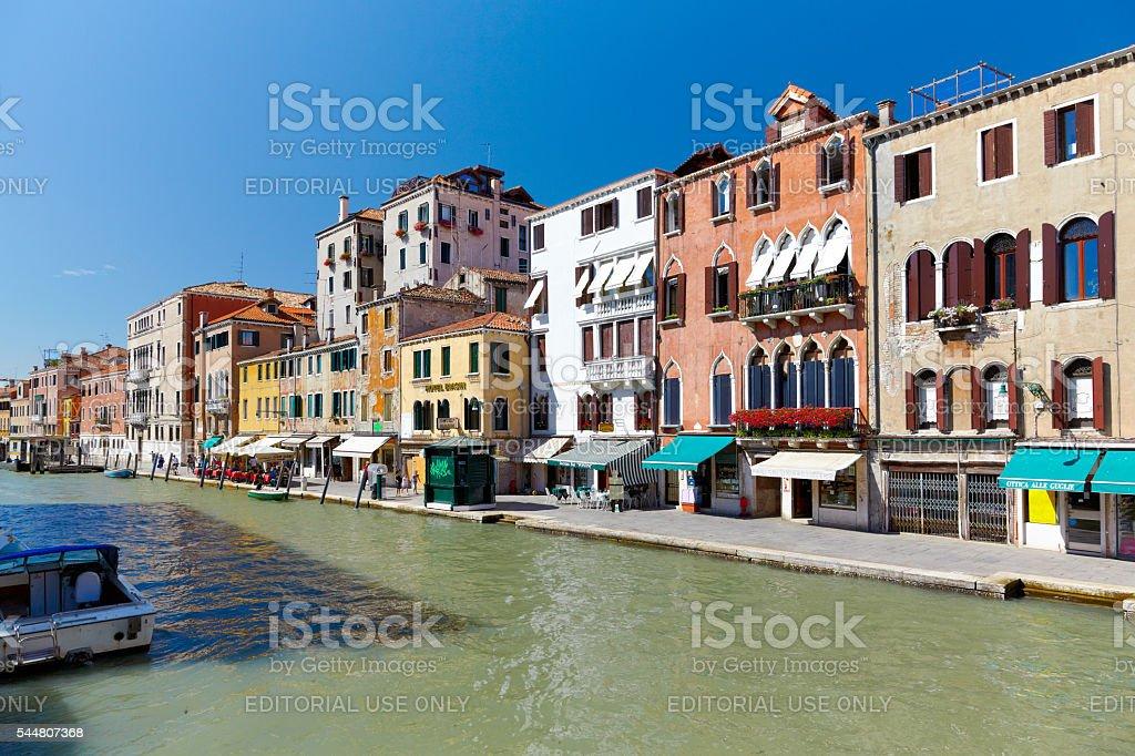 Canal Cannaregio in Venice, Italy stock photo