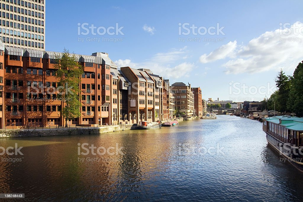 canal city apartments stock photo