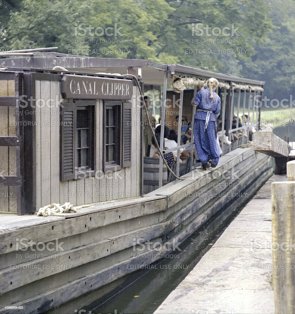 Canal Clipper Barge Trip royalty-free stock photo