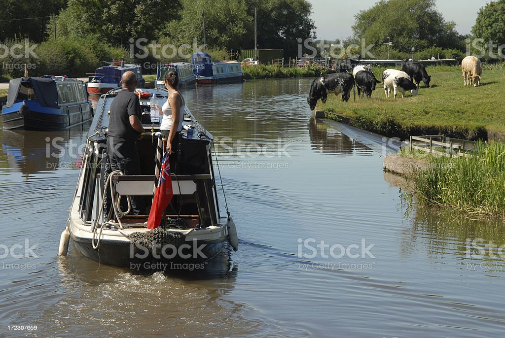 Canal Countryside royalty-free stock photo