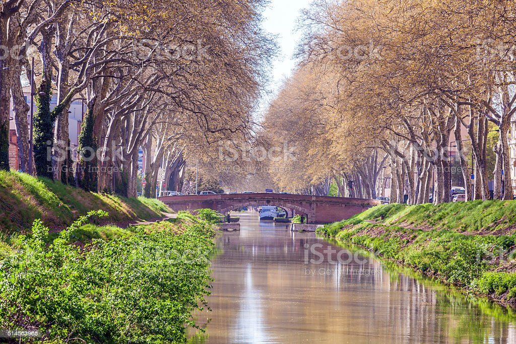 Canal de Brienne, Toulouse, France stock photo