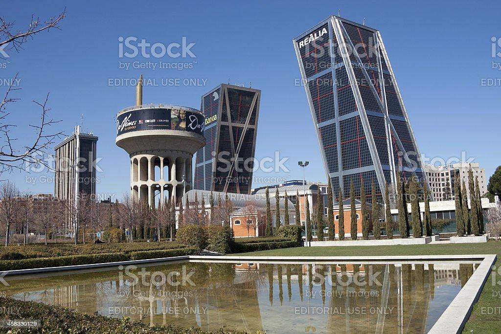 Canal de Isabel II Park in Castilla square - Madrid stock photo