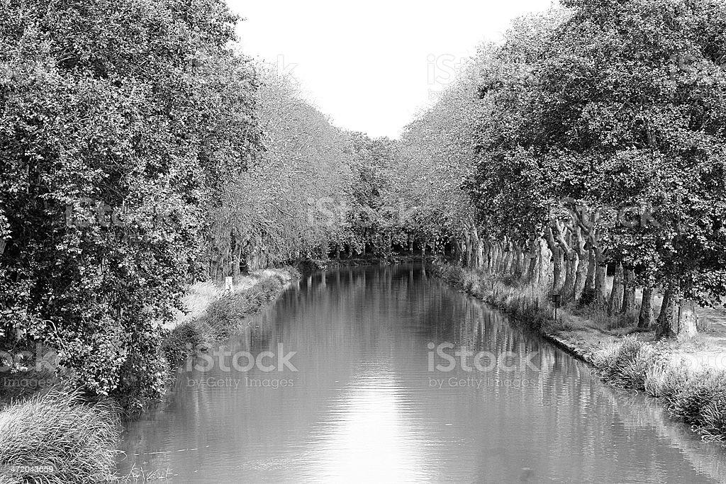 Canale Di Midi, Beziers sud della Francia foto stock royalty-free