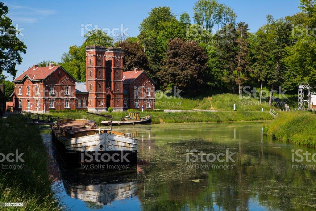 Canal du Centre - Strepy-Bracquegnies stock photo