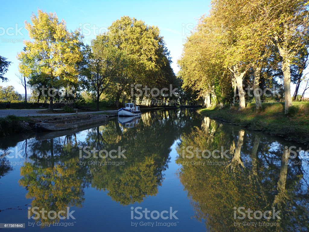 Canal du Midi, on the way stock photo