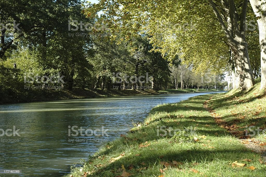 Canal du Midi royalty-free stock photo