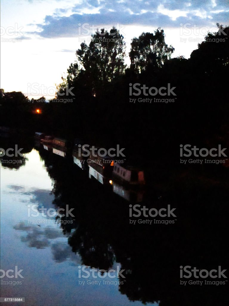 Canal; evening stock photo